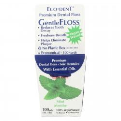 Eco-Dent GentleFloss Premium Dental Floss Mint - 100 Yards - Case of 6