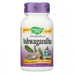 Nature's Way Ashwagandha Standardized - 60 Vegetarian Capsules