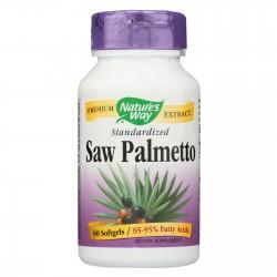 Nature's Way Saw Palmetto Standardized - 60 Softgels