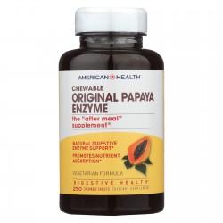 American Health Original Papaya Enzyme Chewable - 250 Tablets