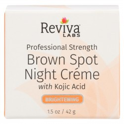 Reviva Labs Brown Spot Night Cream with Kojic Acid - 1 oz