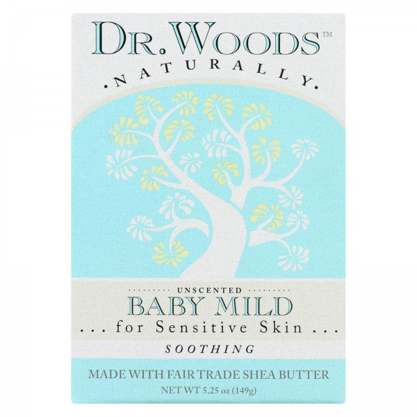Dr. Woods Bar Soap Baby Mild Unscented - 5.25 oz