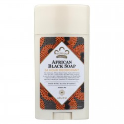 Nubian Heritage Deodorant - All Natural - 24 Hour - African Black Soap - 2.25 oz - 1 each