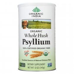 Organic India Fiber Harmony Psyllium Whole Husk - 12 oz