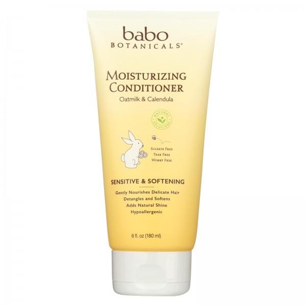 Babo Botanicals Conditioner - Moisturizing - Oatmilk - 6 oz