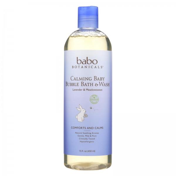 Babo Botanicals Shampoo Bubblebath and Wash - Calming - Lavender - 15 oz