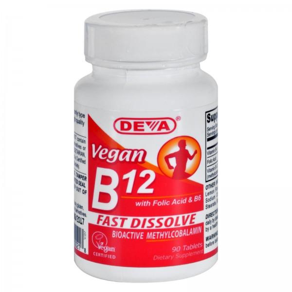 Deva Vegan B12 Sublingual - 90 Sublingual Tablets