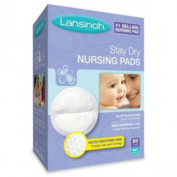 Lansinoh® Stay Dry Disposable Nursing Pads 60 Ct