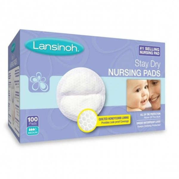 Lansinoh® Stay Dry Disposable Nursing Pads 100 Ct