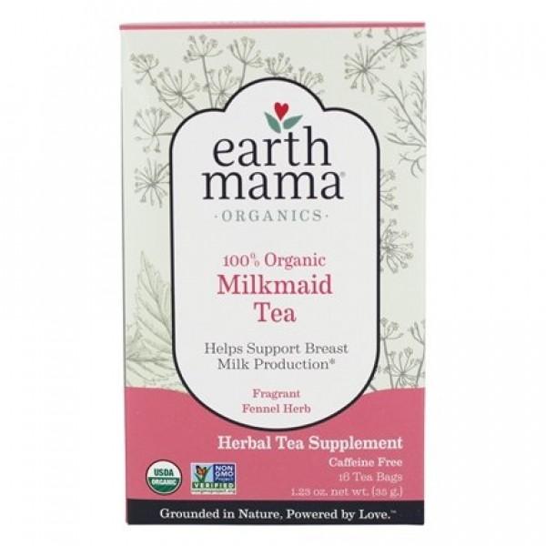 Earth Mama Organic Caffeine-Free Tea Milkmaid - 16 Tea Bags
