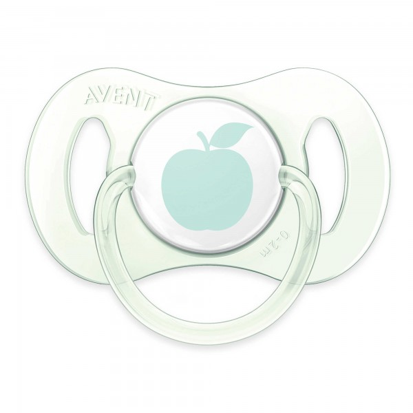 Philips Avent 0-2M 2-Pack Apple Design Pacifier