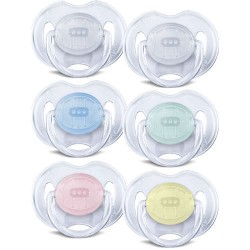 Philips Avent Translucent Pacifiers 0-6m Orthodontic BPA-Free