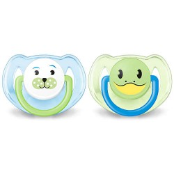Avent Classic pacifier 6-18m Blue Animal Designs