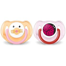 Avent Classic pacifier 6-18m Pink Animal Designs