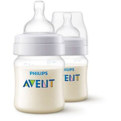 Philips Avent 4 oz. Anti-Colic Bottle in Clear 2 Bottles